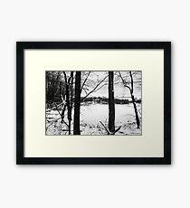 Solemn Winter - Birchwood, WI Framed Print