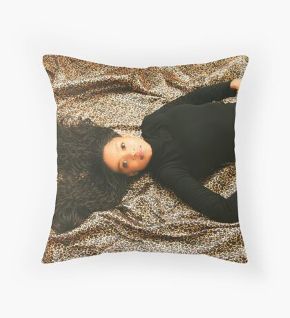 In black Throw Pillow