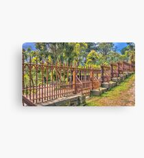 Gateway to the Eltham Cemetery Canvas Print