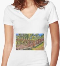 Gateway to the Eltham Cemetery Women's Fitted V-Neck T-Shirt