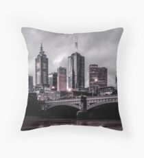 Gotham by the Yarra Throw Pillow