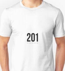 Hoboken, New Jersey - 201 Area Code Unisex T-Shirt