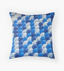 Empty Stands for Swimming Training Throw Pillow