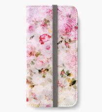 Vinilo o funda para iPhone Patrón de acuarela en colores pastel rosa vintage