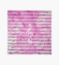 Vintage pink watercolor classical clef music sheet Scarf