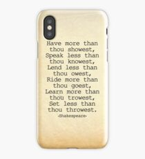 The Fool in King Lear iPhone Case/Skin