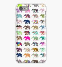 Whimsical Elephant Floral Aztec Chevron Patterns iPhone Case/Skin