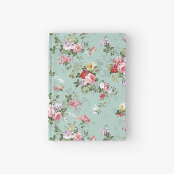 Chic elegant pink roses beautiful flowers pattern Hardcover Journal