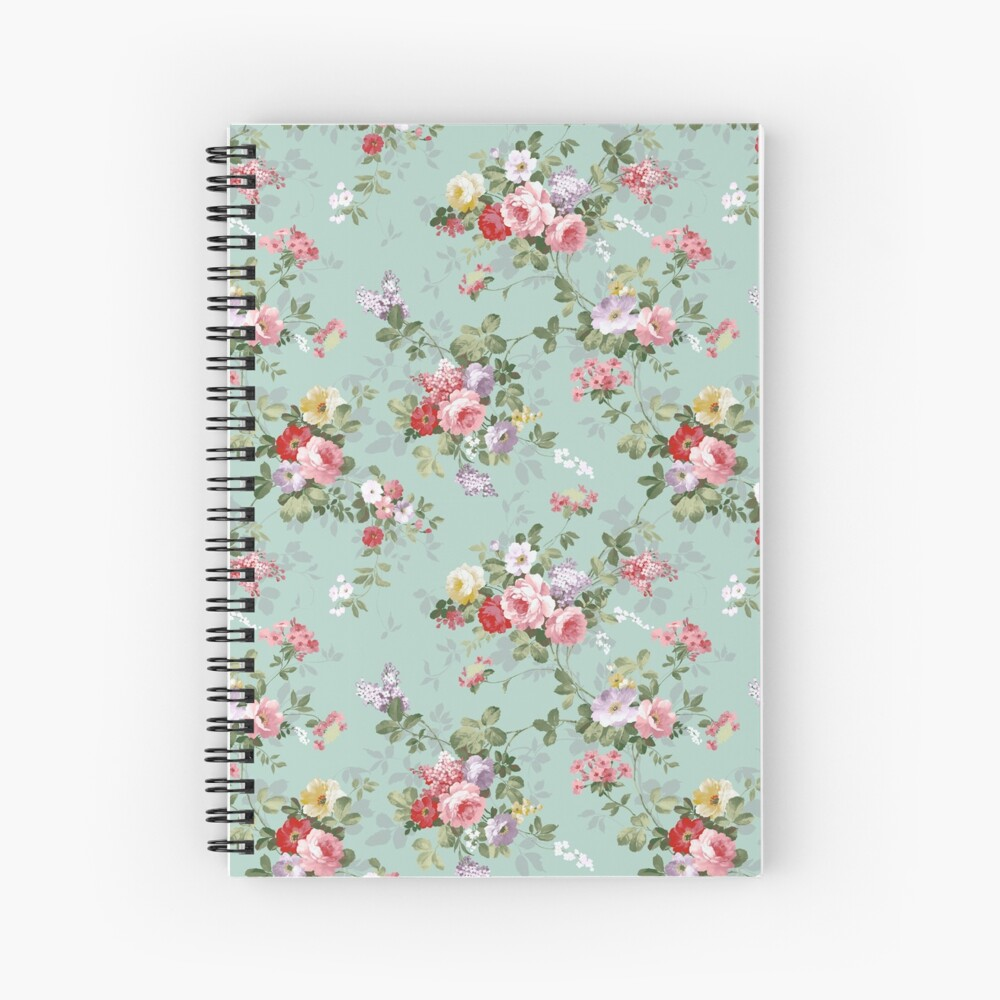 Chic elegant pink roses beautiful flowers pattern Spiral Notebook