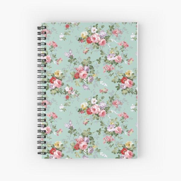 Chic elegant pink roses beautiful flowers pattern Spiral Notebook