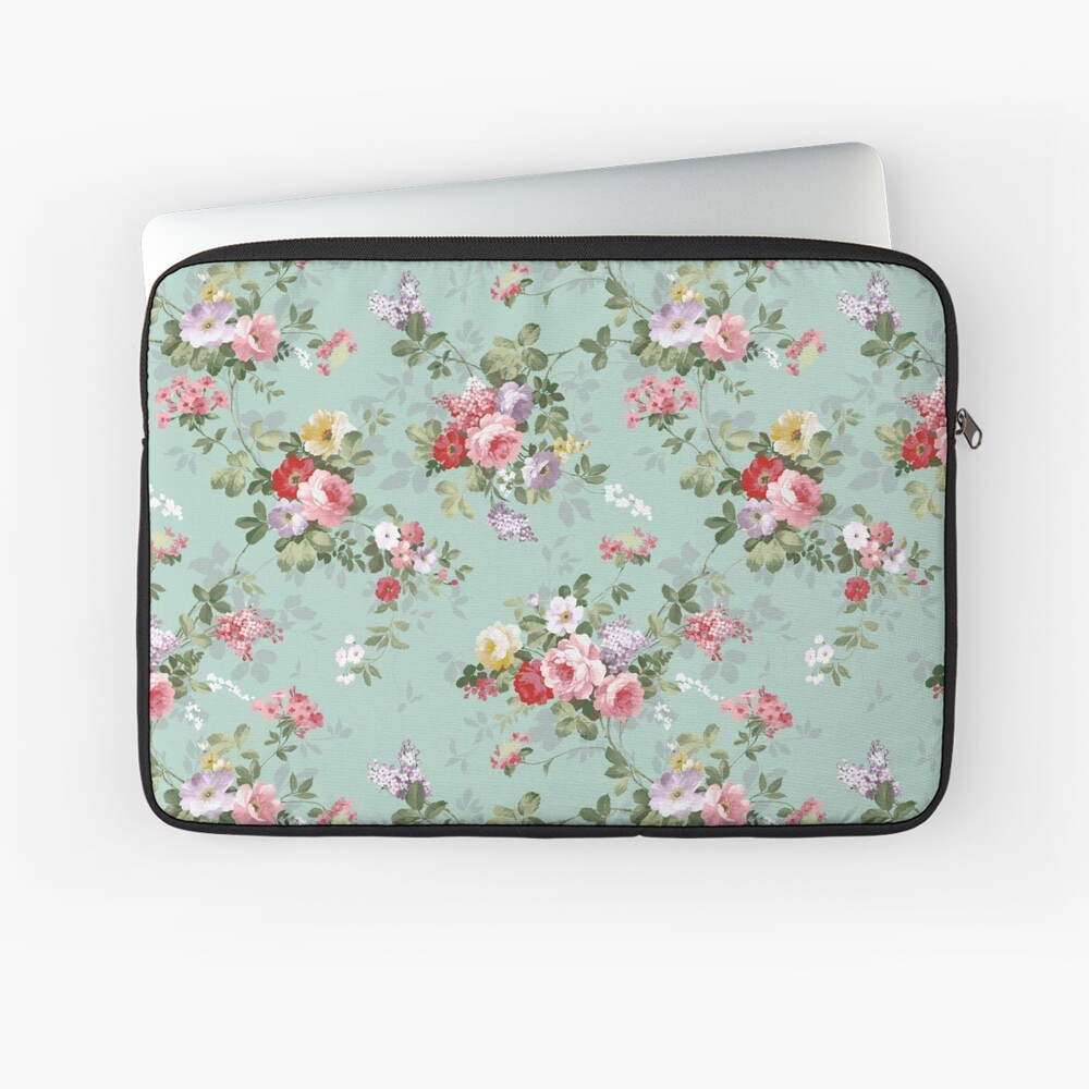 Chic elegant pink roses beautiful flowers pattern Laptop Sleeve