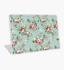 Chic elegant pink roses beautiful flowers pattern Laptop Skin