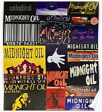 midnight oil fonts through the years Poster