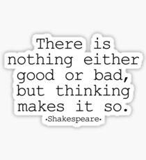Hamlet, Shakespeare Sticker