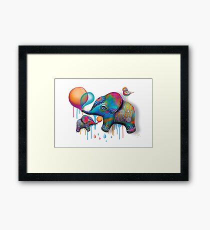 Party Elephants Framed Print