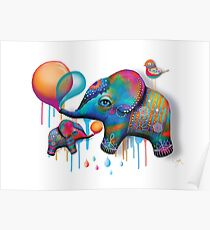 Party Elephants Poster