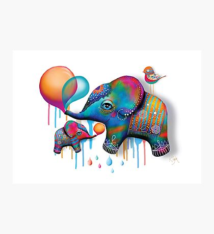 Party Elephants Photographic Print
