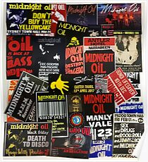 midnight oil wall 1 (best on white product) Poster