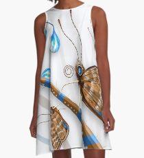 Butterflies and Raindrops A-Line Dress