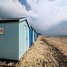 Beach Huts At Charmouth by Susie Peek
