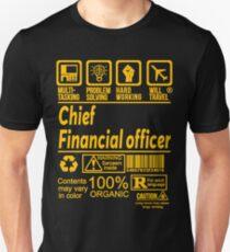 CHIEF FINANCIAL OFFICER SOLVE PROBLEMS DESIGN Unisex T-Shirt