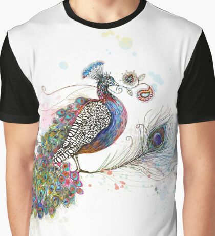 Royale Paisley Peacock Graphic T-Shirt