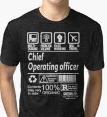 CHIEF OPERATING OFFICER SOLVE PROBLEMS DESIGN Tri-blend T-Shirt