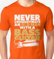 Old Man With A Bass Guitar T-Shirt