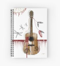 Folk Guitar Spiral Notebook