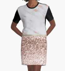 Warm chromatic - rose gold marble Graphic T-Shirt Dress