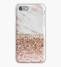 Warm chromatic - rose gold marble iPhone Case/Skin