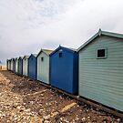 Beach Huts At Charmouth 2 by Susie Peek
