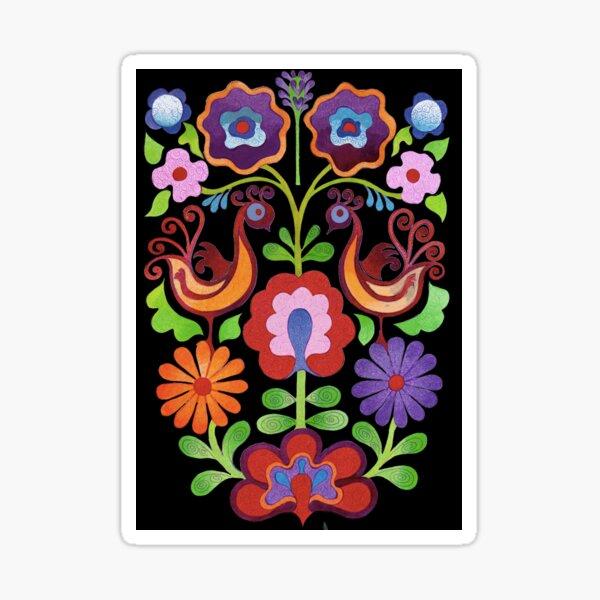 Ukrainian folk Flowers Sticker