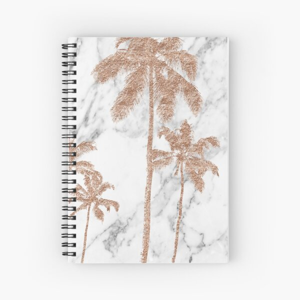 Rose gold marble palms Spiral Notebook