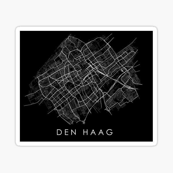 Den Haag (Den Haag) Straßenkarte Sticker