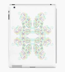 Fractal psychedelic  neon background eyes iPad Case/Skin
