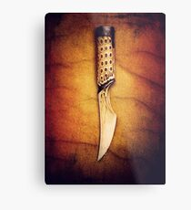 """The Slow Blade (Inspired by David Lynch's """"Dune"""") Metal Print"""