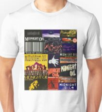 midnight oil fonts through the years Unisex T-Shirt