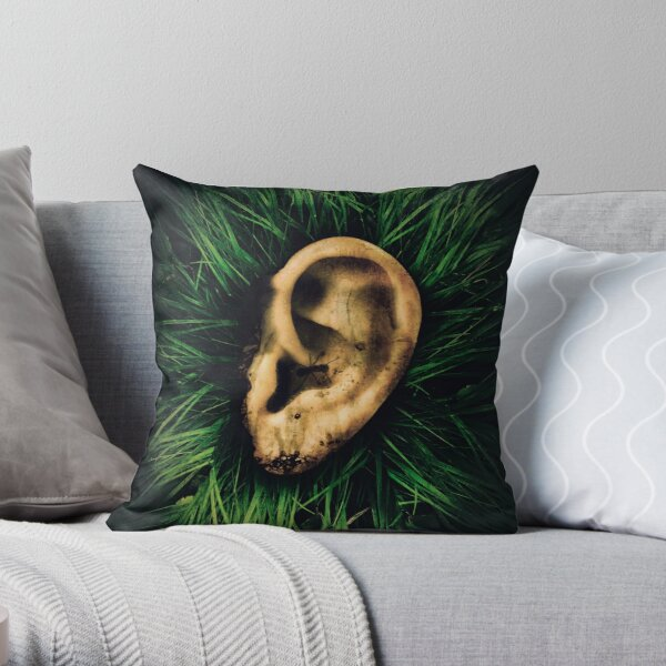 "There, Behind Lincoln (Inspired by David Lynch's ""Blue Velvet"") Throw Pillow"