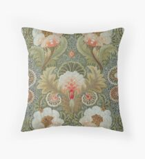 Silk Embroidery 1885 -1895 Throw Pillow