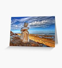 0018 The statue Greeting Card