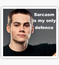 Sarcasm is my only defence. Teen wolf Sticker