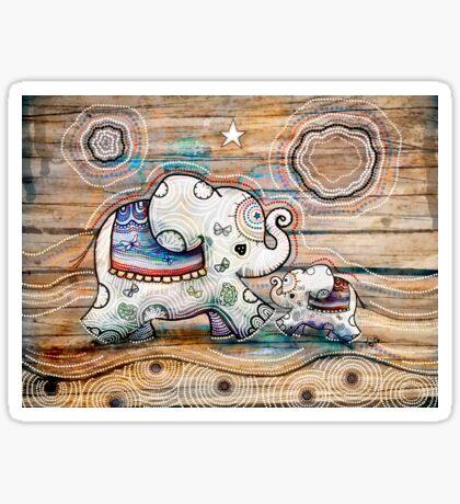 Lucky Star Elephants Sticker