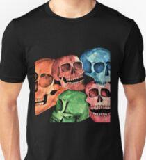 Rainbow Skulls - Watercolour Painting  Unisex T-Shirt