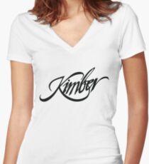 Kimber Firearms 2nd Amendment Women's Fitted V-Neck T-Shirt