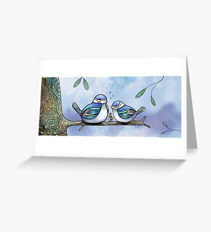 Birds of Blue Greeting Card