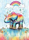 Little Rainbow Elephant by Karin Taylor