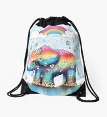 Little Rainbow Elephant Drawstring Bag