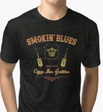 Smokin' Blues - Cigar Box Guitars Tri-blend T-Shirt