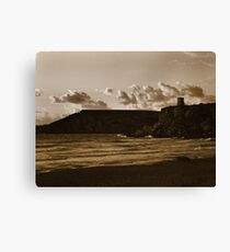 Cool sunset on the beach Canvas Print